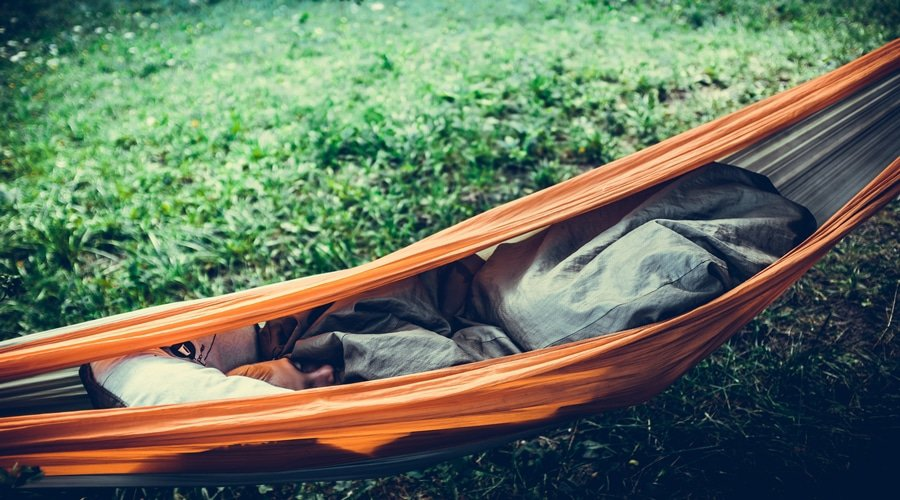 Sleeping in a Hammock Soundly Without Falling Out image