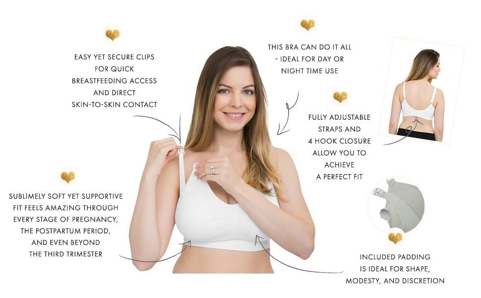 Kindred Bravely Simply Sublime Seamless Nursing Bra for Breastfeeding Wireless Maternity Bra Image