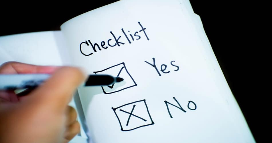Sleep Hygiene Check List Yes or No