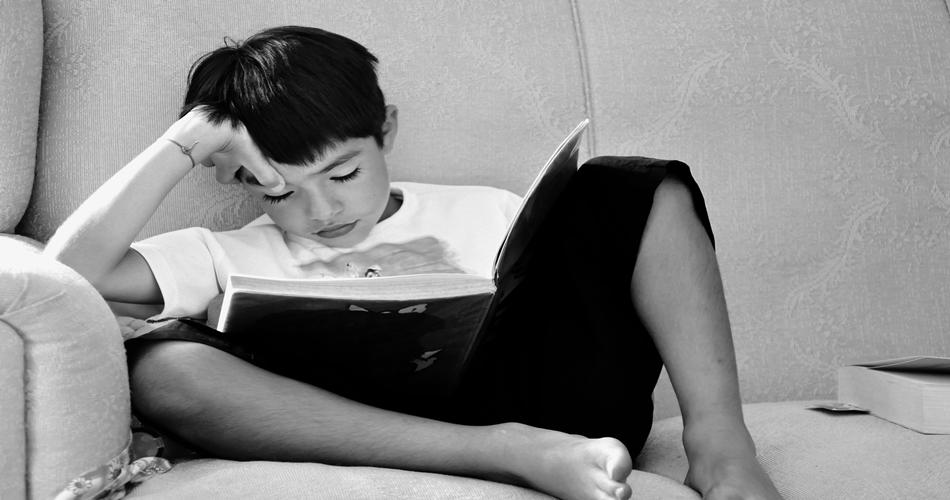 How to Avoid Sleep While Reading? Boy reading...