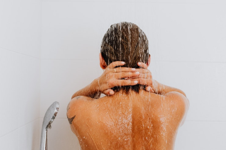 cold shower before bed